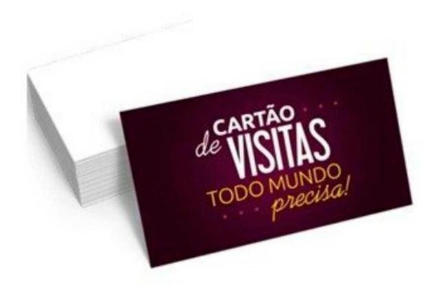 Cartao de visita R$ 50,00