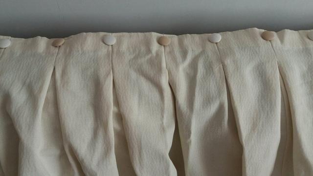 Cortina sala ou quardo excelente tecido grosso cor creme