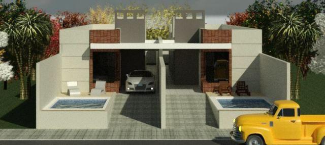 Casas 3 dormitórios, piscina e churrasqueira - Foto 5