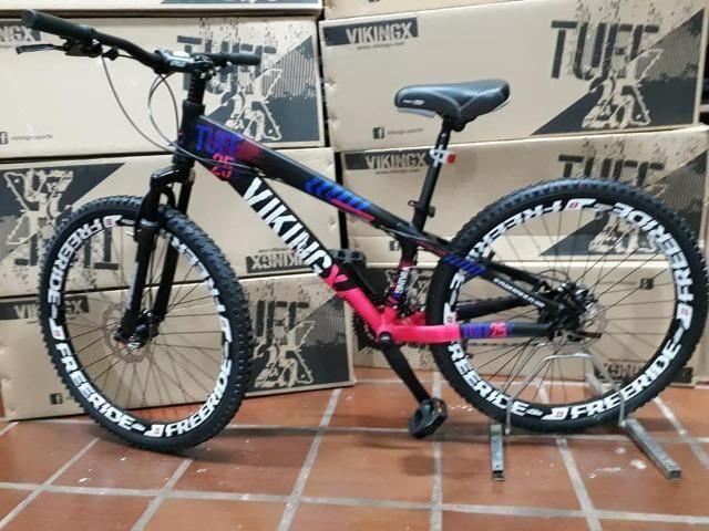 5d7cd15222 Bicicleta Vikingx Tuff 25 freeride aro 26 - Ciclismo - Parque Res ...
