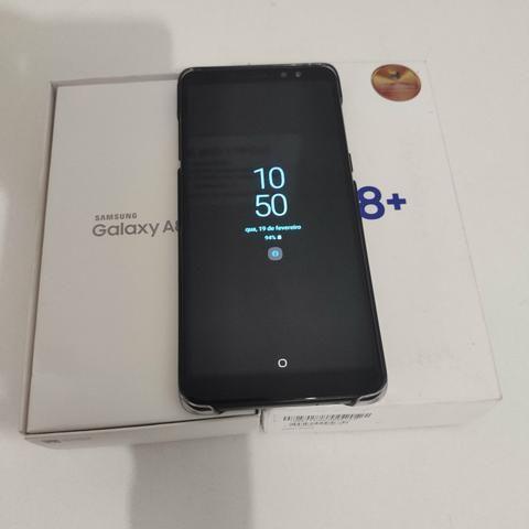 Vendo Galaxy A8+ 2018 ou Troco em computador - Foto 2