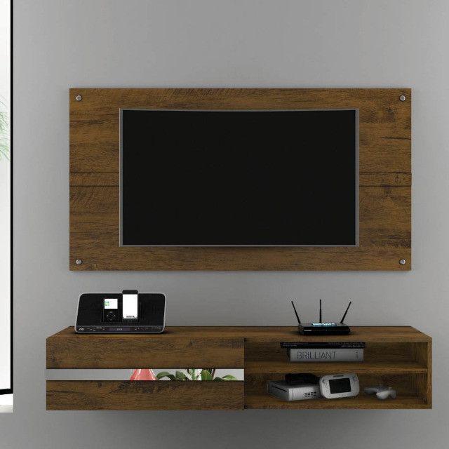 Painel Combo Sorento Glass Para TV até 50 Polegadas Borsari - Foto 3