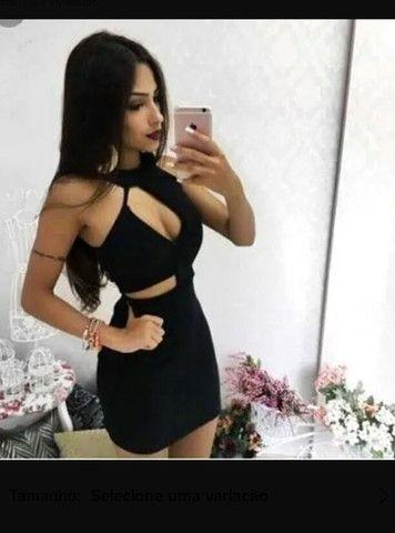 Vestido preto com bojo laicra