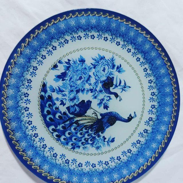 Finos kits de  pratos de pavão, servir ou decorar - Foto 2