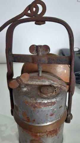Lanterna de Carbureto antiga - Foto 5