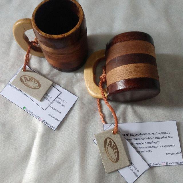 Canecas de madeira - Foto 2