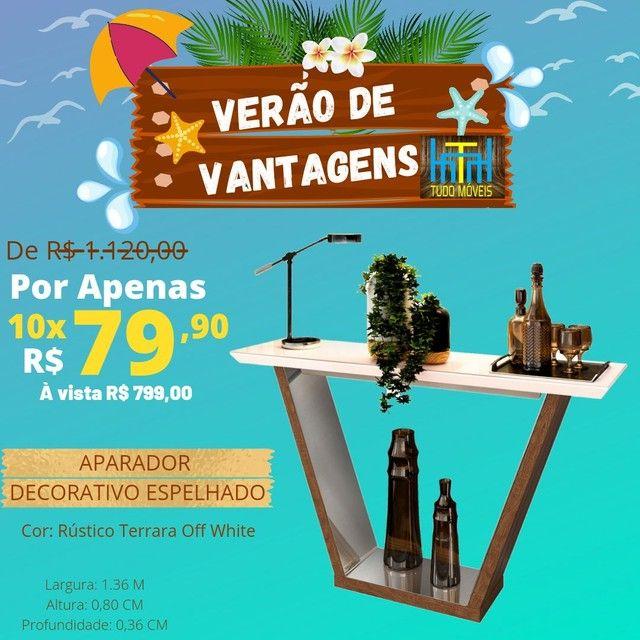 VERÃO DE VANTAGENS / APARADOR DECORATIVO ESPELHADO  - Foto 2