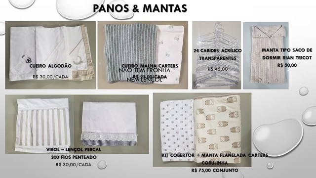 panos, mantas e fralda de boca bordados