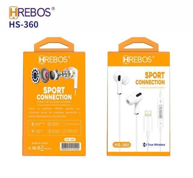 Fone de Ouvido Stereo Sport P/ Iphone