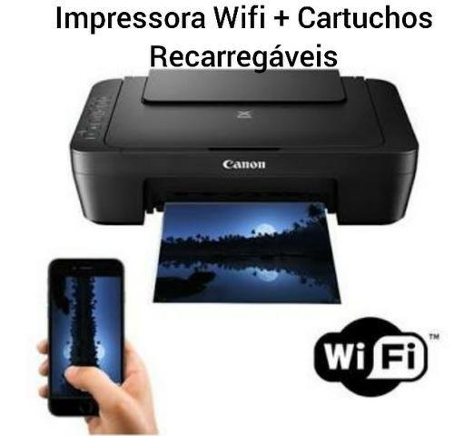 Impressora Wifi com Cartucho Recarregável / Promoção Produto Novo 3 Meses de Garantia