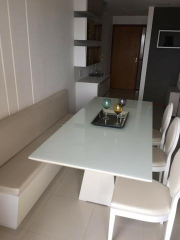 Apt 94 m², nascente, Jatiúca, 3 quartos, 2 vagas, decorado, lazer completo, só 500 mil! - Foto 2