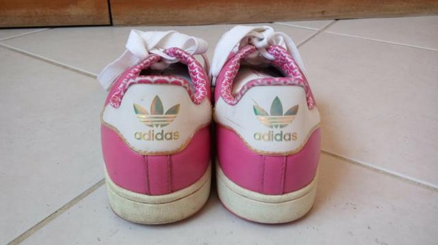 Tênis Adidas Feminino rosa e branco 39/40 - Foto 2