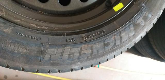 """Jogo de rodas de ferro 16"""" com pneus Michelin - Foto 2"""