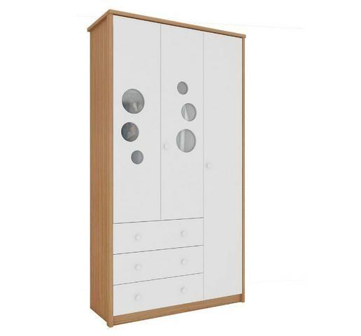 Roupeiro Infantil Guarda Roupas 3 portas 3 gavetas - Lipe *NOVO* ShopMix Móveis - Foto 2