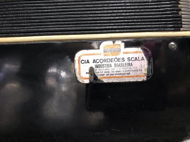 Acordeon / sanfona sacala 120 baixos reduzida elétrica linda original - Foto 2