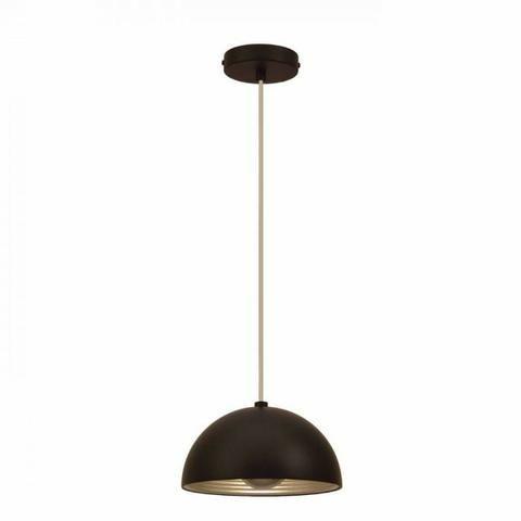 Luminária pendente em aço preto com prata Bella 24cm SE240P + 01 Lâmpada LED E27 - Foto 5