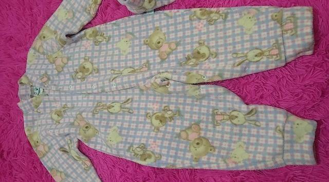 Pijama infantil com pantufa - Foto 2