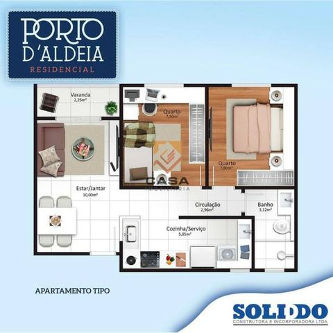 PS=Apto de 2Q c/ Varanda e 2Q c/ Varanda + Quintal- Porto D'Aldeia- Novo Horizonte - Foto 6
