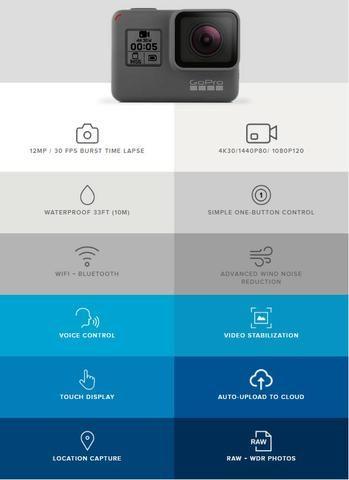 Câmera Gopro Hero5 Black 4k + Cartão Sd 64gb + Bateria Extra - Foto 6