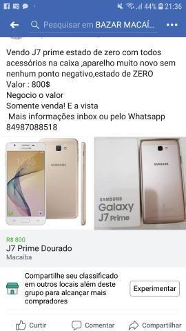 fd36a125f9 Vendo J7 Prime Dourado - Celulares e telefonia - Macaíba