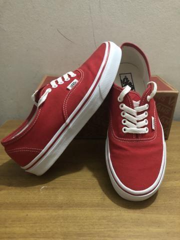682da8b032a329 Vans Authentic vermelho ORIGINAL!! - Roupas e calçados - Guará Ii ...