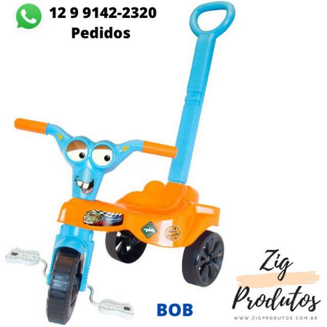 Triciclo Infantil Velocipe Bob Com Empurrador - Promoção Produtos Novos