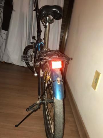 Bicicleta Dobrável Blitz City azul Aro 20, - Foto 3