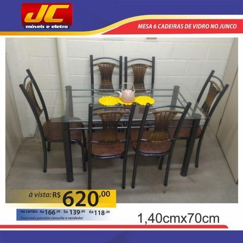 Mesas de 6 cadeiras na promoção a partir de r$499,00 reais
