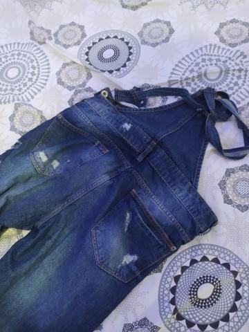 Macacão jeans semi novo - Foto 5