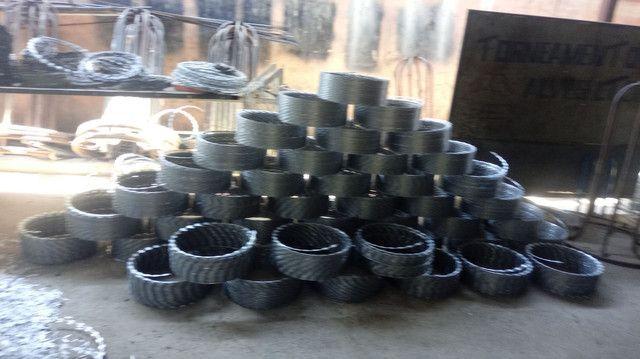 Fabricação de concertina 110,00 reais o rolo.