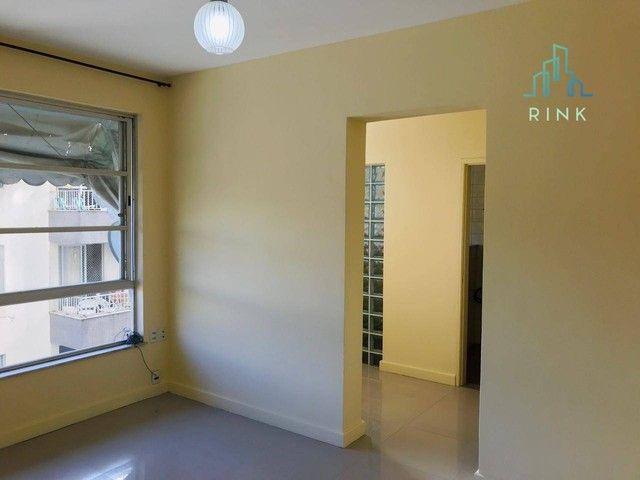 Apartamento com 1 dormitório para alugar, 50 m² - Icaraí - Niterói/RJ - Foto 3