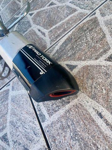 Escapamento Moto V3 YBR 125 Factor  - Foto 3