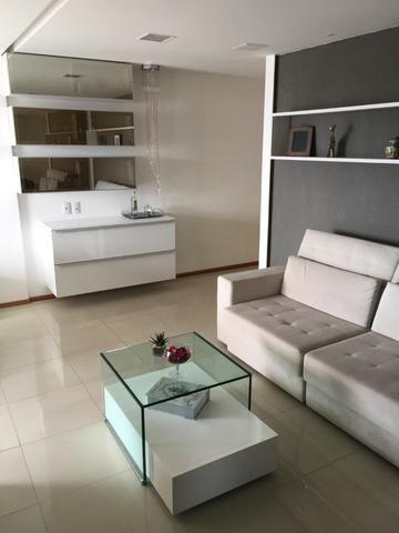 Apt 94 m², nascente, Jatiúca, 3 quartos, 2 vagas, decorado, lazer completo, só 500 mil! - Foto 5