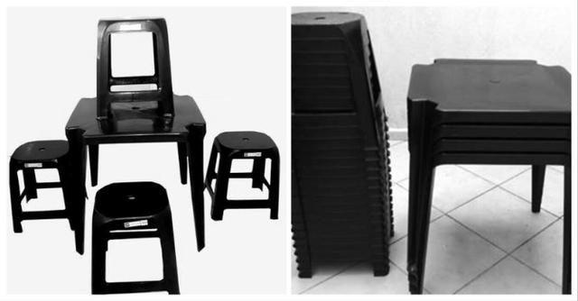 Conjunto mesas e banquetas Tramontina