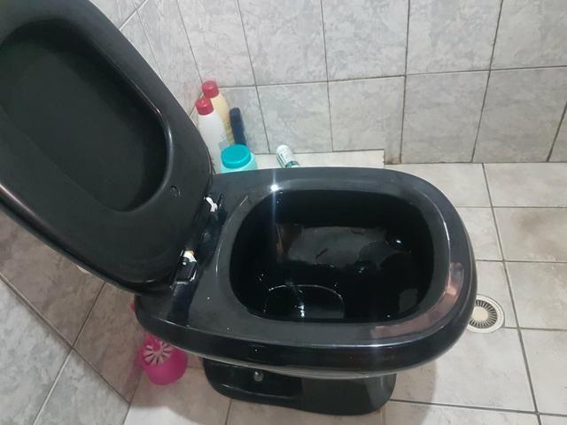 Kit pia e bacia preto para banheiro