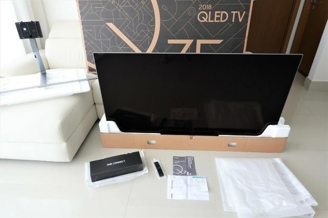 TV Samsung Qled Q7FN 65 polegadas Q led com caixa e manuais