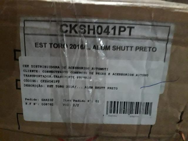 Estribo aluminio shutt preto Originais Para Fiat Toro 2016 cksh041pt - Foto 3