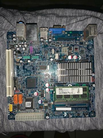 Placa Mãe Com Processador Intel Atom