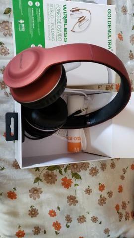 Fone de ouvidos sem fio com entrada para cartão SD