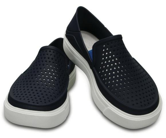 ff013fc72 Sapatênis Crocs Azul Marinho com Solado Branco - Roupas e calçados ...