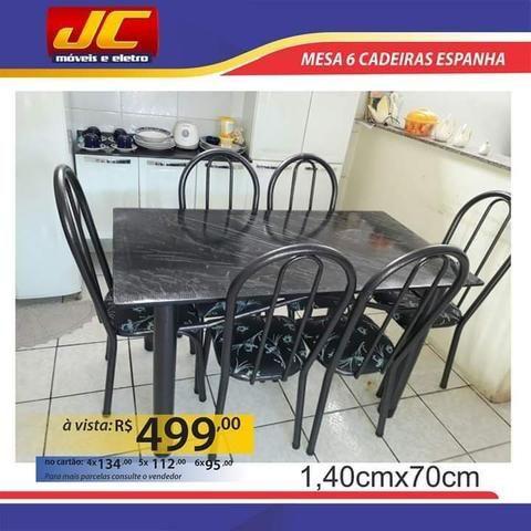 Mesas de 6 cadeiras na promoção a partir de r$499,00 reais - Foto 2