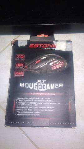 Mouse gamer Estone X7 Gaming novo - Foto 3