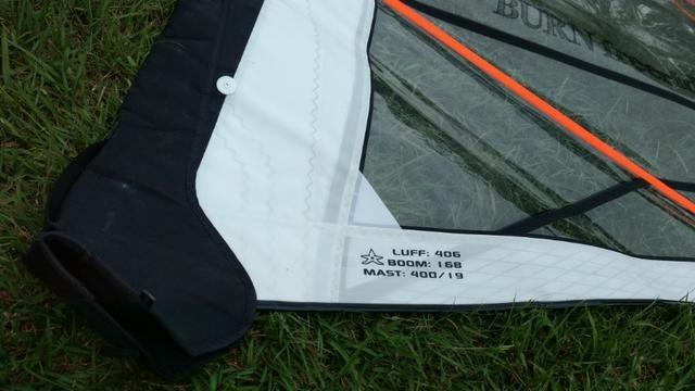 Vela Windsurf Burn FreeRide 4,5 -Usada somente uma vez