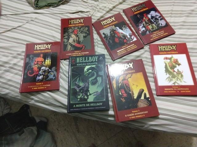 Hellboy edição histórica 1 ao 6 + edição gigante a morte de hellboy  - Foto 3