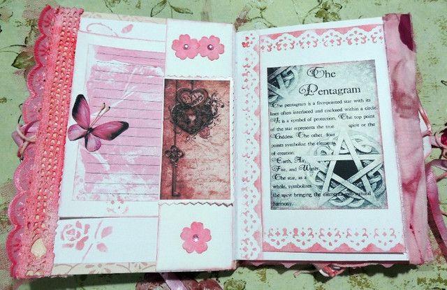 Grimório Artesanal Rosa Vintage Estilo Junk Journal - Foto 4