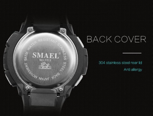 Relógio Masculino Digital Smael 1513 Prova Dágua 50 Metros  - Foto 4