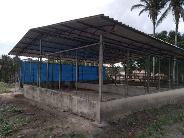 Cobertura de telhas galvanizadas l