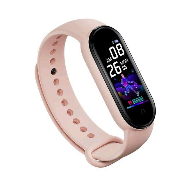 Smartwatch Original M5 Inteligente Banda Monitor Medidor De Freq Ncia Aca De Fitness - Foto 5