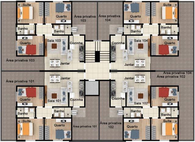 Oportunidade, apartamentos de 3 qtos com suíte e duas vagas no Santa Branca. - Foto 12