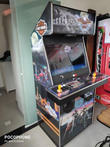 Fliperama 1.100 jogos arcades 32 pol com Karaoke 9.900 musicas - Foto 2